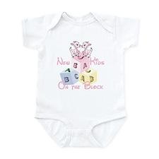Twin Girls New Kid on the Block Infant Bodysuit