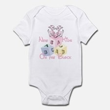 Twin Girls New Kid on the Block Infant Bodysuit