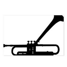 Dizzy Trumpet Black.gif Postcards (Package of 8)