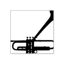 "Dizzy Trumpet Black.gif Square Sticker 3"" x 3"""