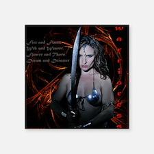 "warrioress_t_shirt_draft Square Sticker 3"" x 3"""