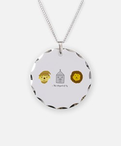 'Oz Friends' Necklace Circle Charm
