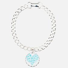 horse heart light blue Bracelet