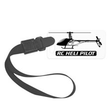 RC Heli Pilot Fin Luggage Tag