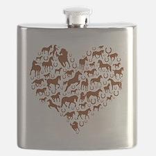 horse heart brown Flask