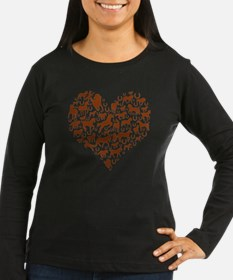 horse heart brown T-Shirt