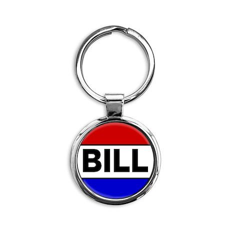 bill Round Keychain