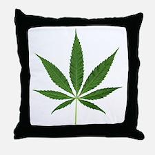 Pot Leaf Throw Pillow