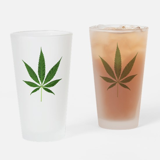 Pot Leaf Drinking Glass