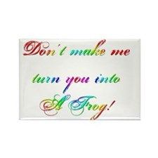 frog rainbow Rectangle Magnet