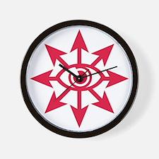 chaoseye-red Wall Clock