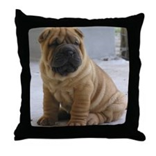 LaurensSharpei Throw Pillow