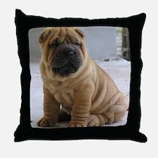 LaurensSharpei Throw Pillow