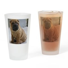 LaurensSharpei Drinking Glass