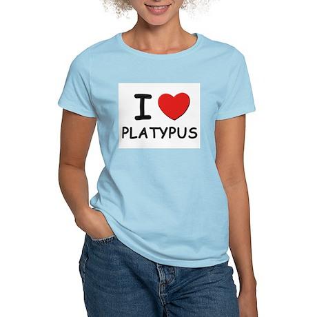 I love platypus Women's Pink T-Shirt