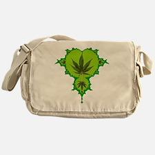 Weed Fractal Messenger Bag