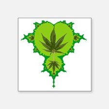 """Weed Fractal Square Sticker 3"""" x 3"""""""