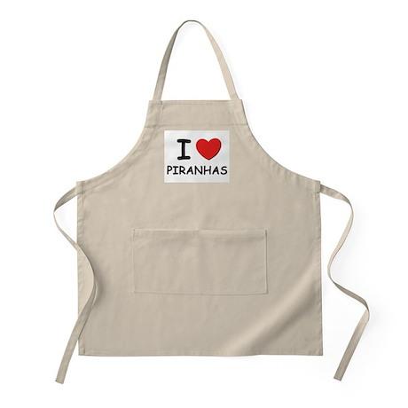 I love piranhas BBQ Apron
