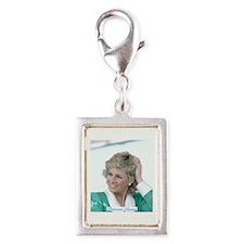 HRH Princess Diana Australia Silver Portrait Charm