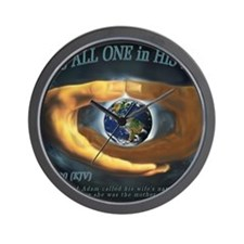 We Are ALL ONE in HIS Hands Wall Clock