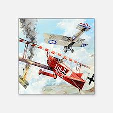 "Fokker Square Sticker 3"" x 3"""