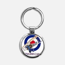 CAMEL Round Keychain