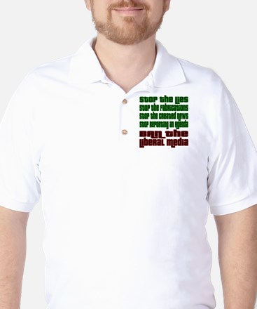 BanLiberalMedia Golf Shirt