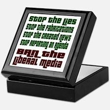 BanLiberalMedia Keepsake Box