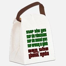 BanLiberalMedia Canvas Lunch Bag