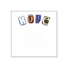 "Ad Letter Hope Square Sticker 3"" x 3"""