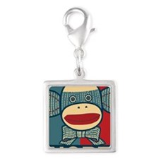 Nope Silver Square Charm