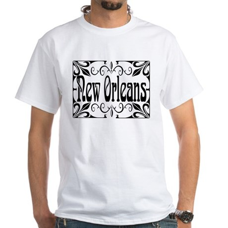 New Orleans Wrought Iron White T-Shirt