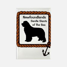 Newfoundlands Gentle Giants of th Rectangle Magnet