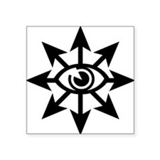 "chaoseye-blk Square Sticker 3"" x 3"""