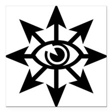 "chaoseye-blk Square Car Magnet 3"" x 3"""