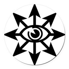 chaoseye-blk Round Car Magnet