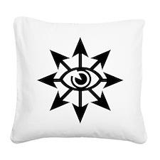 chaoseye-blk Square Canvas Pillow