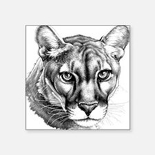 "Panther Grayscale Square Sticker 3"" x 3"""