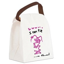 tie_shoes_pink Canvas Lunch Bag