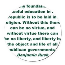 Education without religion is use Round Car Magnet
