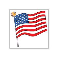 "flag Square Sticker 3"" x 3"""