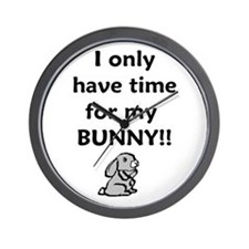 Funny Bunny lover Wall Clock