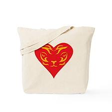 Tiger-Heart-2010 Tote Bag