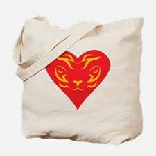 Tiger-Heart-2010 Tote Bag