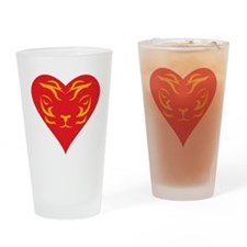 Tiger-Heart-2010 Drinking Glass