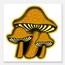 """YellowShrooms Square Car Magnet 3"""" x 3"""""""