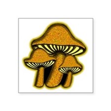 "YellowShrooms Square Sticker 3"" x 3"""