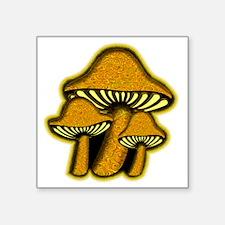 "YellowShrooms Square Sticker 3"" x 3"""