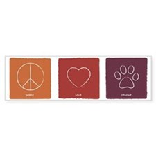 peaceloverescue_fallcolors Bumper Sticker