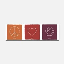 peaceloverescue_fallcolors Car Magnet 10 x 3